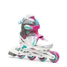 Nijdam multi color inline skates voor meisjes. Deze skates zijn te verstellen in 4 maten zodat je er lang plezier van hebt! De semi-softboot skates zijn…