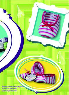 Comodidad y dulzura inspiran nuestras zapatillas rayas pasteles @doce04