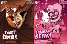 Jim Lee, Dave Johnson, Terry & Rachel Dodson Redesign General Mills' Monster Cereals - Comic Book Resources