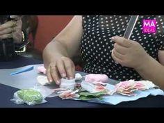 Flores en porcelana fría/ pasta francesa/ pasta flexible/ cold porcelain - YouTube