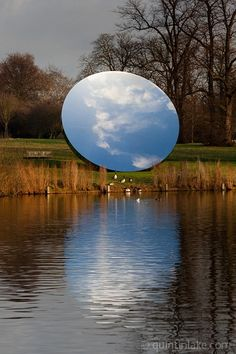 Anish Kapoor - a miniature earth created by a mirror. Decoration via vanity's normal path. Sublime
