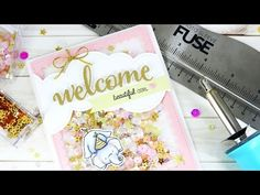 Hi everyone, it's Nina-Marie here with you today! I'm going to share some inspiration and tips for using the We R Memory Keepers Fuse Tool with your Pretty Pink Posh products to create an easy and … Kids Cards, Baby Cards, Sequin Cards, Posh Products, Pretty Pink Posh, We R Memory Keepers, Card Making Tutorials, Shaker Cards, Card Tags