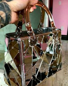 Lady Dior, Glass Details / Only Me 💋💚💟💖✌✔👌💙💚 xoxo Luxury Purses, Luxury Bags, Luxury Handbags, Purses And Handbags, Handbags Michael Kors, Sacs Design, Cute Purses, Cute Bags, Lady Dior