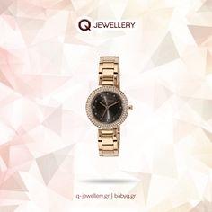 Γυναικείο ρολόι Karen Millen διακοσμησμένο με κρύσταλλα, με κάσα και μπρασελέ από ροζ επίχρυσο ανοξείδωτο ατσάλι.  Επισκεφτείτε ένα από τα καταστήματα μας στη Θεσ/νίκη www.q-jewellery.gr/katastimata.html Karen Millen, Michael Kors Watch, Gold Watch, Watches, Accessories, Jewelry, Jewlery, Bijoux, Clocks