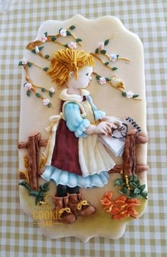 Spring as sprang in the wonderland, a perfect weather to go outside and draw a bird! A coloured Royal Icing cookie and a little bit of wafer paper for the sketch book. Meringue Cookies, Cookie Frosting, Iced Cookies, Cute Cookies, Easter Cookies, Royal Icing Cookies, Birthday Cookies, Cupcake Cookies, Christmas Cookies