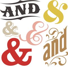 and ampersand set by Lori Whitlock