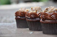 German Chocolate Cupcakes -
