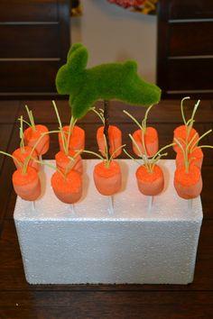 marshmallow carrots pops