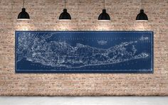 Print of Vintage Long Island Map on Photo Paper Matte Paper