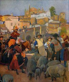 Joaquín Sorolla, (Visión de España) Extremadura; el mercado, 1917.