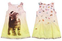 Anne Kurris spring summer 2014, bi-colour yellow cotton sleeveless dress…