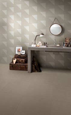 No reference or imitation: Transition is a sophisticated return to craft ceramics, where every element was and still is sensation, matter, research. A graphic feature that leads to the world of italian-made craftsmanship: an ancient skill, known and handed down through time, blends with the technology of industrial production.#Mirage  #Porcelain #customhome #Houston #Dallas See this beautiful collection at @GranitiVicentia http://www.granitivicentia.com/