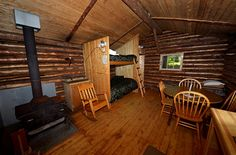 Located almost 10 minutes walking from the reception desk, at the edge of the woods and facing the lakes, this authentik log cabin will make you experience the trapper's life at the time of the «coureur des bois». Heated with a wood stove, the trapper's cabin is the perfect place to spend a night in a friendly atmosphere with friends, family or lovers. The cabin has 2 double beds (bunk beds) and a bench where a child can sleep, a dry toilet (inside).