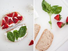 Strawberry, basil & goat cheese panini by @cookieandkate. #goatcheese #strawberry #panini