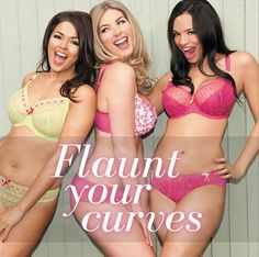 Flaunt your curves in the latest Spring Summer collection. Who's got a favourite this season? #curves #flaunt #plusbust #bras #lingerie #kcups #dcups #knowyourboobs