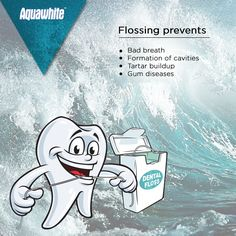 Health benefits of flossing your teeth!