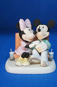Mickey Minnie Mouse Sharing Popcorn Figurine Disney Precious Moments 122701