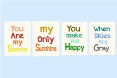 Nursery Wall Art You are my Sunshine print 4  by LittlePergola, $49.00
