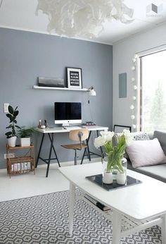tikkurila living room - 2019 living room grey,room wall colors j Blue Painted Walls, Blue Grey Walls, Light Grey Walls, Grey Light, Grey Accent Walls, White Walls, Blue Room Paint, Baby Blue Paint, Grey Wall Color
