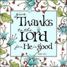 Give thanks for ALL things!