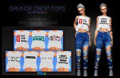 Sims 4 CC's - The Best: GRUNGE CROP TOP by Rimshard Shop