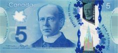 Canada Banknotes 5 Canadian Dollar Polymer Note 2013 Sir Wilfrid Laurier, Prime Minister of Canada Canadian Dollar, Canadian Coins, Wilfrid Laurier, Fancy Store, How To Become Rich, Looking To Buy, How To Find Out, How Are You Feeling, Stuff To Buy