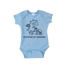 Monster In Training Onesie Blue now featured on Fab.