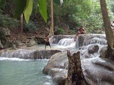 7 steps to Heaven Waterfall, Konchanaburi, Thailand