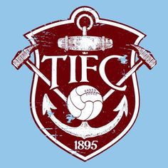Very old Thames Ironworkers logo - the team that became West Ham. One of the first logos, that represented who the team at this time where. English Football Teams, British Football, Fifa, London Football, West Ham United Fc, Image Foot, Soccer Logo, Football Design, Crests