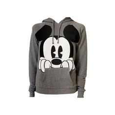 Mickey Mouse Hoodie Forever 21 ❤ liked on Polyvore