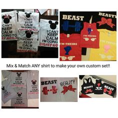 Mix and Match/ Shirt Sets/ Disney Shirts/ Disney Family Shirts/ Matching Shirts/ Family Shirts/ Initials Shirts/ mens shirts/ gun shirts by MyKidsandiKustoms on Etsy