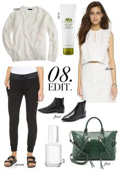 August wish list: a balanced mix of summer and transitional pieces. #jcrew #shopbop #sephora #nordstrom #essie