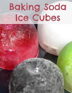 Baking soda ice cubes, fun way to try the always fun baking soda and vinegar reaction #science #bakingsoda #scienceforkids