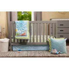 Baby Mod - Modena 3-in-1 Fixed Side Crib, Choose Your Finish - Walmart.com