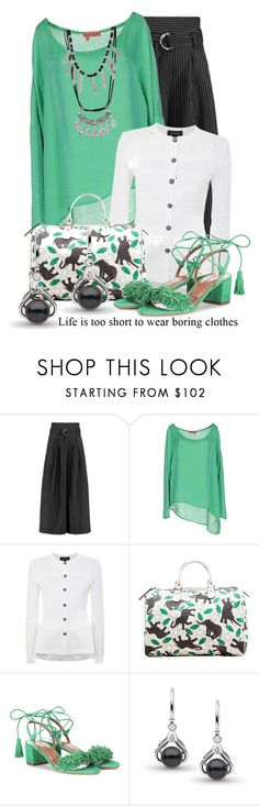 """""""Untitled #11129"""" by queenrachietemplateaddict ❤ liked on Polyvore featuring Paper London, Manila Grace, St. John, Gucci and Aquazzura"""