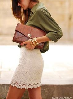 Pretty outfit-love this skirt! Have a grey one similar