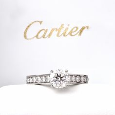 Cartier 1.40ct GIA H VVS2 Diamond Platinum Engagement Ring Item #: 629501 Thanks to @doverjewelry for heaving this beautiful requistit of jewelry