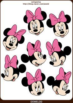 ★포토샵 스티커,디즈니 스티커 모음 62장! 미키마우스와 공주들 그리고 푸우 등등! : 네이버 블로그 Minnie Mouse Clipart, Minnie Mouse Images, Minnie Mouse Party, Mouse Parties, Applique Patterns, Craft Patterns, Nyan Cat, Disney Nails, Flower Doodles