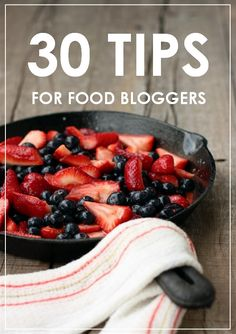 Are you a food blogger looking to improve your blog? These essential 30 tips will help you take your food blog up another notch!