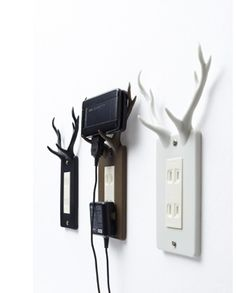 The socket deer : a handy resting place for your electronic devices. I cant find where to buy these in the US, but it should be an easy DIY, maybe with Sugru and spray paint.