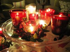 Christmas Candle Decor 2013