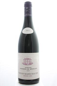 Chandon De Briailles Corton Maréchaudes 2012. France, Burgundy, Aloxe Corton, Grand Cru. 3 Bottles á 0,75l. EStimate (11/2016): 300 USD (100 USD (2.473 CZK) / Bottle).