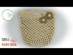 YouTube Diy Crochet, Crochet Bags, Crochet Needles, Craft Bags, Straw Bag, Purses And Bags, Shopping Bag, Weaving, Pouch