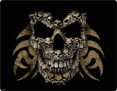 the skull made out of skulls