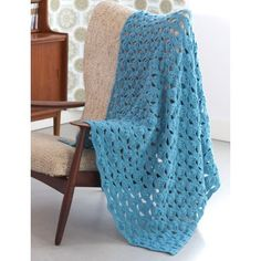 Free Easy Afghan Crochet Pattern Patons Light & Airy Afghan - See link for tips from Crochet Crowd: http://thecrochetcrowd.com/crochet-light-airy-afghan-customizable/