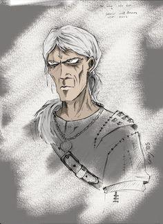 Geralt _Andrzej Sapkowski_ by graywindru on DeviantArt