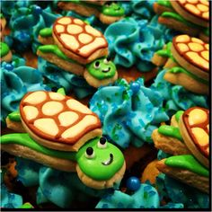 """""""Under the Sea"""" Baby shower cookies by Sara Belle's Bakery."""