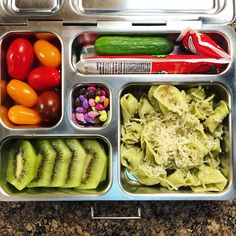 In case you didn't get the memo, it's Tortellini Time! My daughter's @planetbox lunch includes spinach tortellini with Parmesan, kiwi, grape tomaters, a mini cucumber, and @annieshomegrown organic whole milk yogurt. #lunch #bento #bentobox #organic #organicfood #healthy #healthyfood #healthykids #healthylife #healthyeating #Healthyfamily #instafood #instagood #eatyourveggies #eattherainbow #cleaneats #cleaneating #healthychoices #picoftheday #foodpic #foodie #eeeeeats #feedfeed #yum…