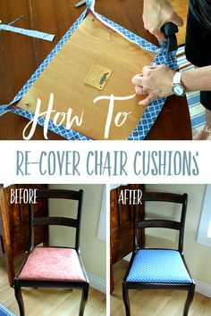 What Type Of Fabric To Cover Kitchen Chairs Throne For Sale 31 Best Chair Cushions Images How Easily Recover A Cushion Follow These Quick And Easy Steps
