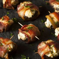 Scrumptious Bacon-Wrapped Stuffed Mushrooms